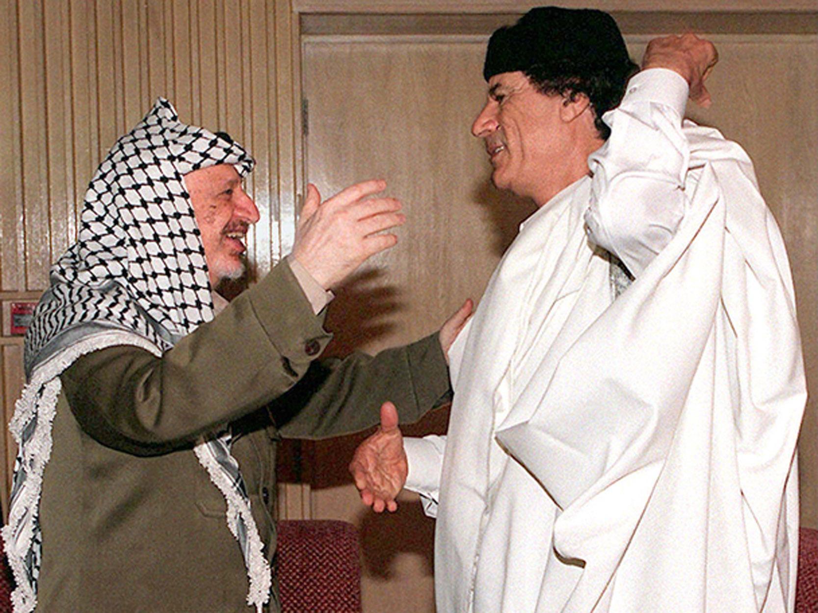 Каддафи и Арафат. 1996 г.