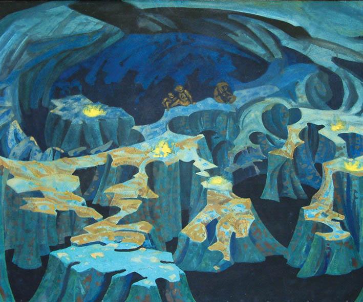 Николай Рерих. Пещера троллей. 1912