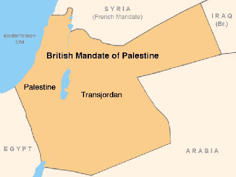 Территории, входившие в Британский мандат