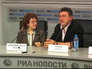 """Пресс конференция Ш. Занда в Москве: """"Иерусалим построили не мы. Но, возможно, построили Киев""""."""