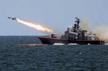 Запуск ракеты «Калибр-НК» из акватории Каспийского моря