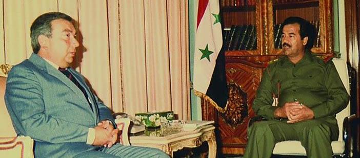 Евгений Примаков и Саддам Хусейн