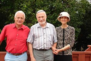 В центе Борис Гулько с женой Анной Ахшарумовой