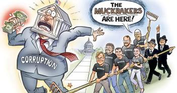 Коррупция и макрейкеры. Рисунок Бена Гаррисона
