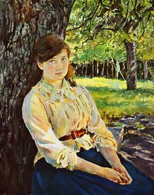 Девушка, освещённая солнцем (Мария Симонович)
