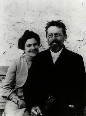 А. П. Чехов с женой О. Л. Книппер