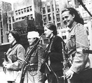 Женщины — руководители партизанских отрядов в освобожденном Минске