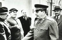 Берия, Маленков, Пономаренко, Сталин, Каганович. Кремль, начало 1950-х годов