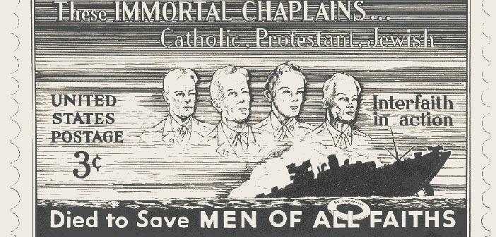Почтовая марка в честь четырех капелланов