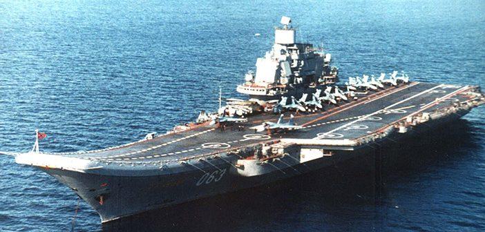 Авианосный крейсер «Адмирал Кузнецов». С американскими авианосцами не сравнится, но НАТО насторожил