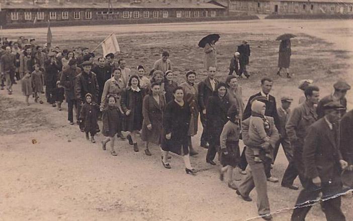Лагерь для нелегальных еврейских беженцев в Австрии,  1947 год