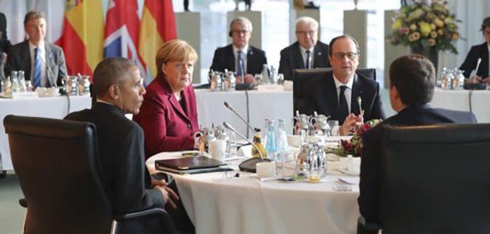 Барак Обама на прощальной встрече с лидерами Европы вБерлине