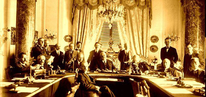 Заседание держав-победительниц на конференции в Сан-Ремо. 1920 г.