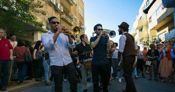 Музыканты на улице Шенкин в Тель-Авиве