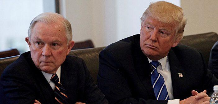 Джефф Сешнс и Дональд Трамп