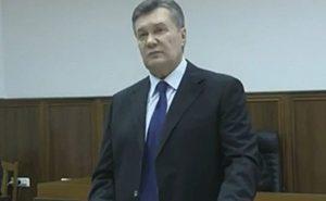 Виктор Янукович дает показания в суде
