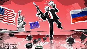 Эрдоган в Сирии — как на минном поле. Карикатура РИА Новости