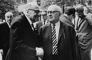 Теодор Адорно с Максом Хоркхаймером