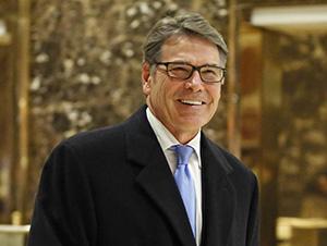 Рик Перри, номинированный на пост министра энергетики