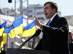 Михаил Саакашвили на митинге «Руха новых сил» в Киеве