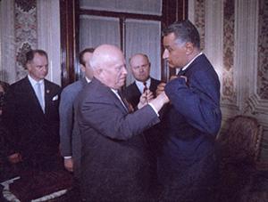 Никитиа Хрущев и Гамаль Абдель Насер