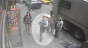 Сцена кражи была снята уличной видеокамерой