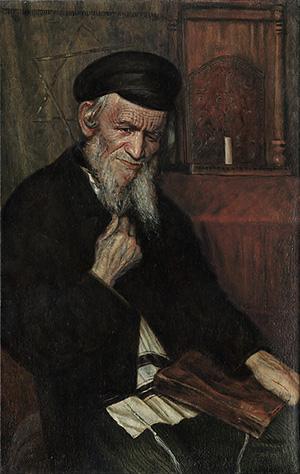 Толкователь Талмуда. Копия картины Иегуды Пэна