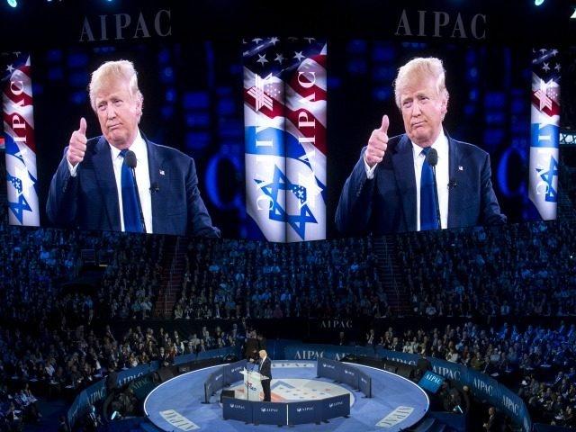 Дональд Трамп выступает на конференции АЙПАК. Апрель 2016 г.
