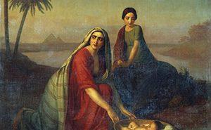 Алексей Тыранов. Моисей, опускаемый матерью на воды Нила