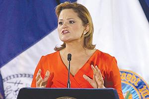 Спикер нью-йоркского горсовета Мелисса Марк-Виверито произносит послание «О положении в городе»
