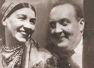 Михаил Гаркави с первой женой —  певицей Лидией Руслановой