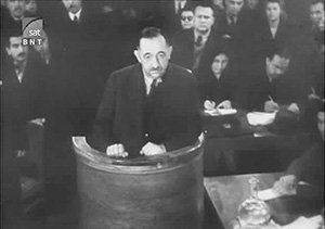 Богдан Филов на заседании Народного суда