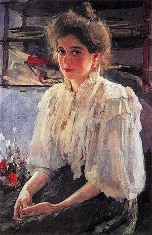 Валентин Серов. Девушка, освещённая солнцем. 1888 г.