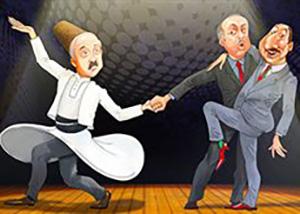 Лукашенко, Эрдоган, Алиев.  Карикатура с сайта Charter97.org