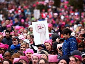 Марш женщин против Трампа в Вашингтоне