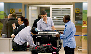 Таможенный досмотр в аэропорту им. Бен-Гуриона