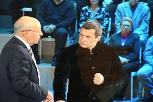 Сергей Кургинян и Владимир Соловьев в «Поединке»