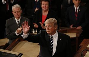 Президент Дональд Трамп выступил в Конгрессе