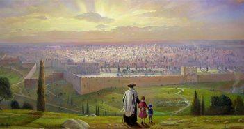 Восход солнца в Иерусалиме. Художник Александр Левин