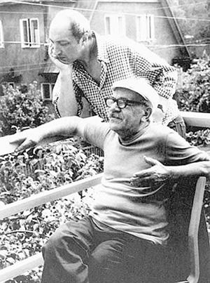 Давид Самойлов и Михаил Козаков. Пярну. Конец 70-х