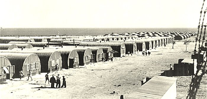 Британский лагерь на Кипре для еврейских беженцев из Европы. Первая половина 40-х гг.