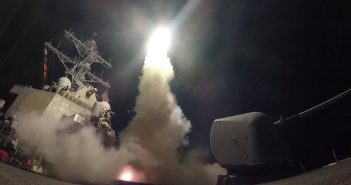 U.S. Navy guided-missile destroyer USS Porter (DDG 78) conducts strike operations while in the Mediterranean Sea which U.S. Defense Department said was a part of cruise missile strike against Syria  on April 7, 2017.  Ford Williams/Courtesy U.S. Navy/Handout via REUTERS   ATTENTION EDITORS - THIS IMAGE WAS PROVIDED BY A THIRD PARTY. EDITORIAL USE ONLY.