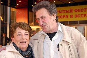 Игорь Губерман с женой Татой