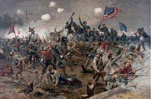 Война северных и южных штатов, где решался вопрос подчинения и управления единой власти