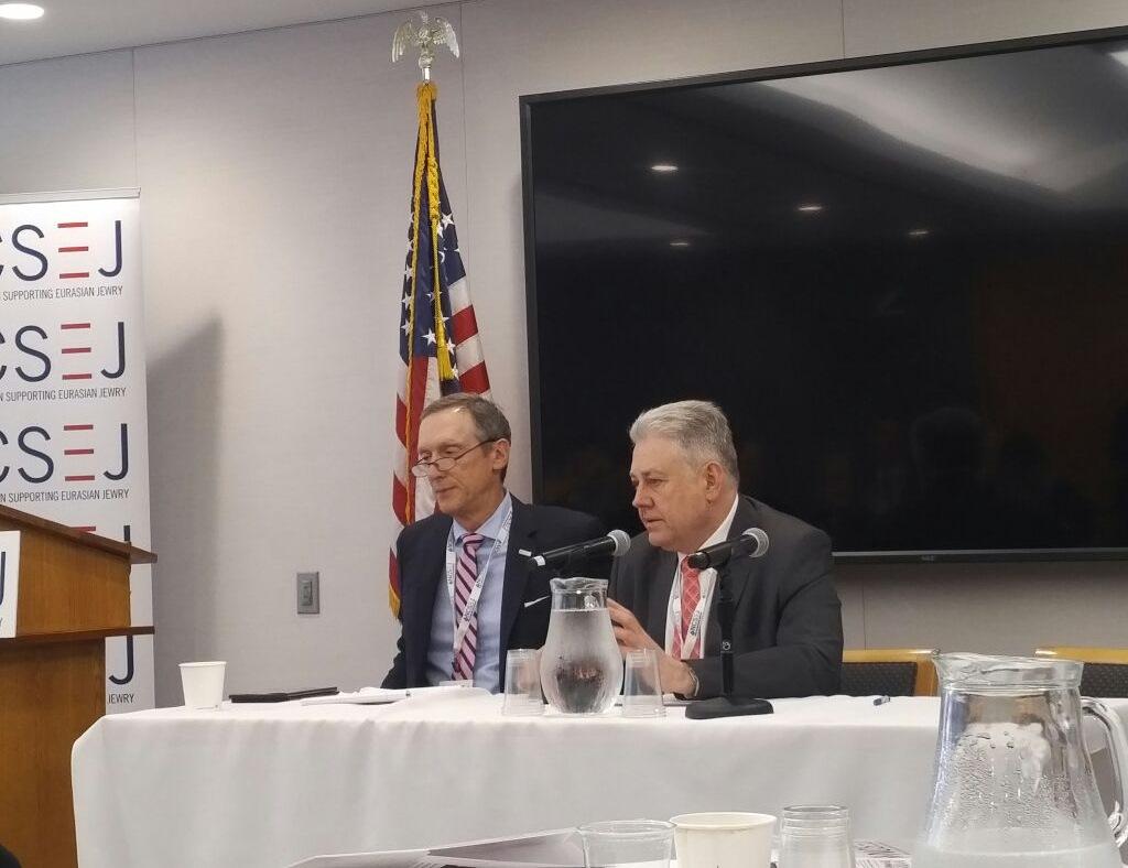 Владимир Ельченко отвечает на вопросы еврейских лидеров США, 7 июня 2017 г.