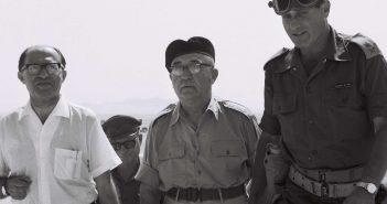 Июнь 1967 г. В освобожденном Иерусалиме: министр М.Бегин, ПМ Л.Эшколь и генерал Й.Гавиш