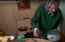 """Одна из получательниц благотворительной помощи. Фото:  стоп-кадр видеоролика на официальном сайте """"Джойнта""""."""