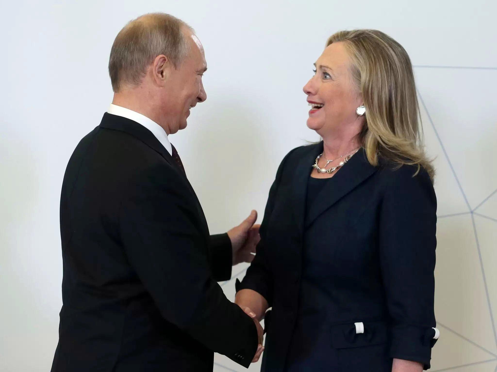 Владимир Путин и Хиллари Клинтон
