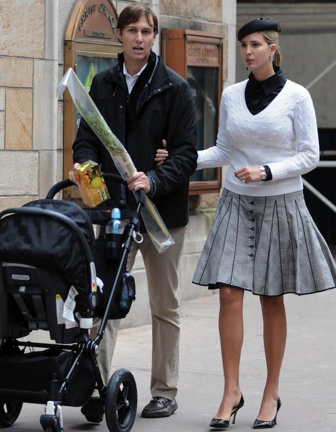 Джаред Кушнер и Иванка Трамп гуляют с символами еврейского праздника Суккот.