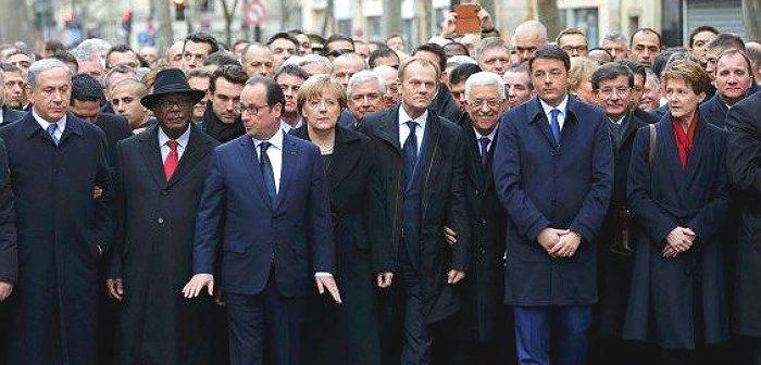 Сей пострел везде поспел! Антитеррористическая демонстрация. Париж, 2015